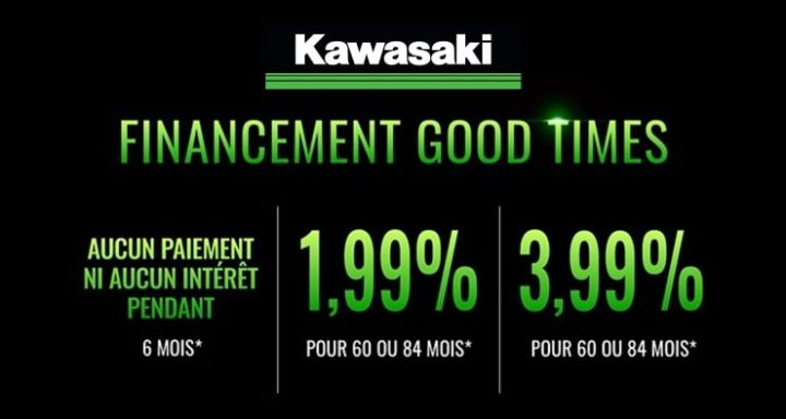 Les meilleures options de financement avec Kawasaki!