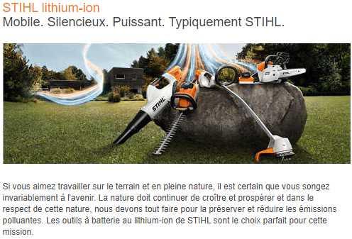 Ils sont arrivés! STIHL Lithium-Ion